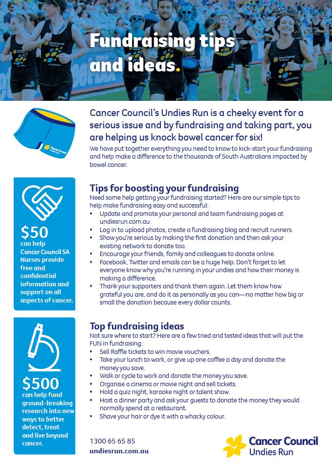 Undies Run Fundraising Tips